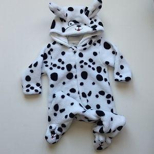Snugabye Fleece Dalmatian Onesie * 3M